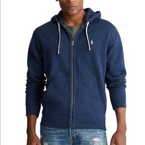 Heather Blue Zip front hoodie
